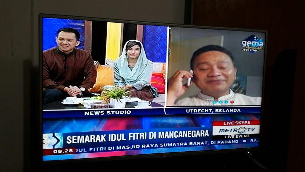 Idul Fitri di Utrecht Diliput oleh Metro TV dan TV Lokal Belanda
